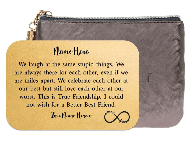 Personalised Best Friend Wallet Keepsake Card - PureEssenceGreetings