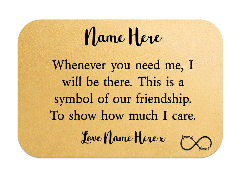 Personalised Friendship Keepsake Wallet Card | Symbol of Friendship - PureEssenceGreetings