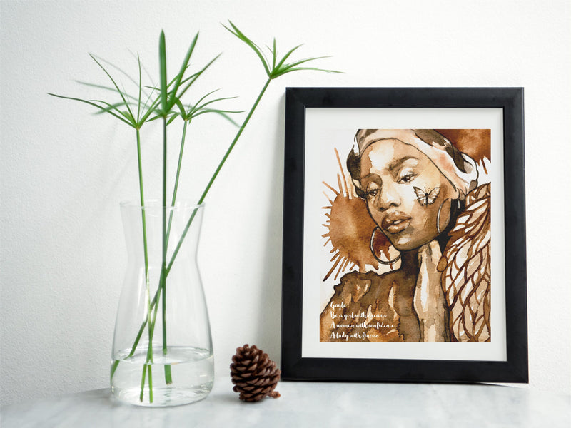 Girl With Dreams Framed Print