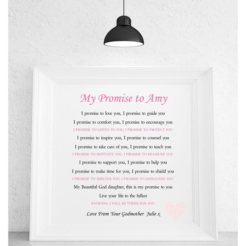 Godson * God-daughter Personalised Framed Poem
