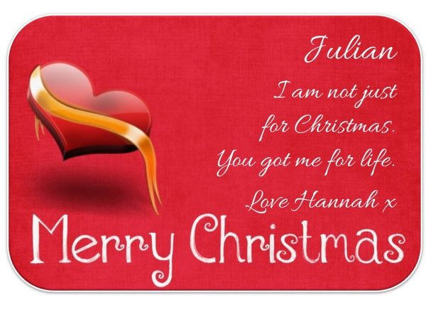 Personalised Love Christmas Wallet Card - PureEssenceGreetings