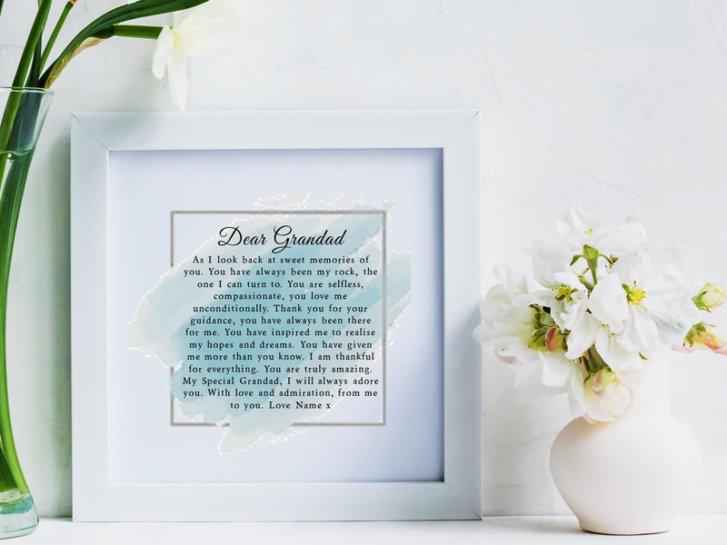 Special Grandad Personalised Framed Poem - PureEssenceGreetings