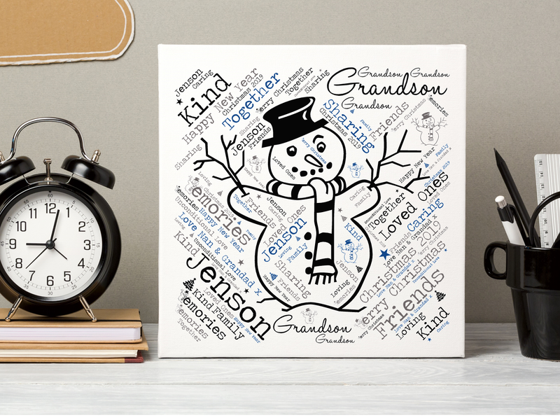 Grandson Personalised Christmas Card - PureEssenceGreetings