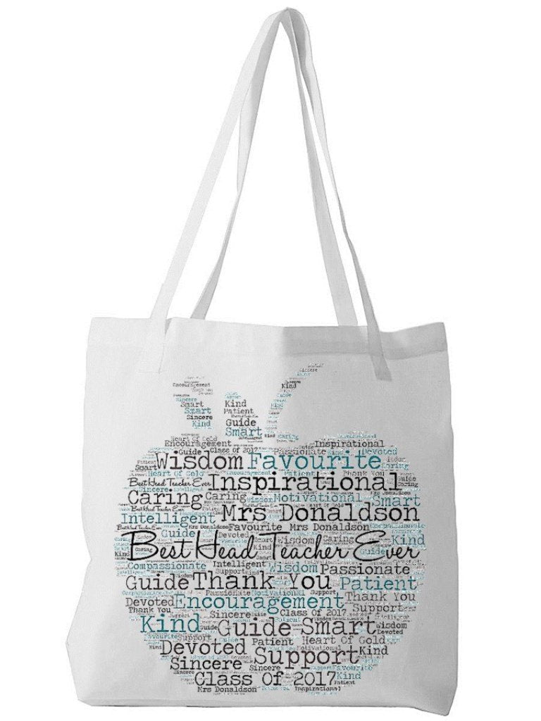 Personalised Word Art Head Teacher Bag