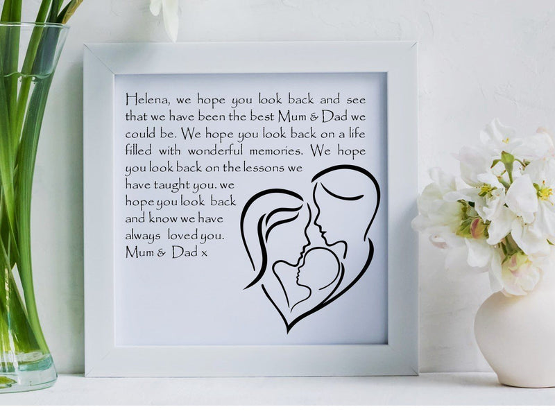 Daughter Personalised Box Framed Poem - PureEssenceGreetings