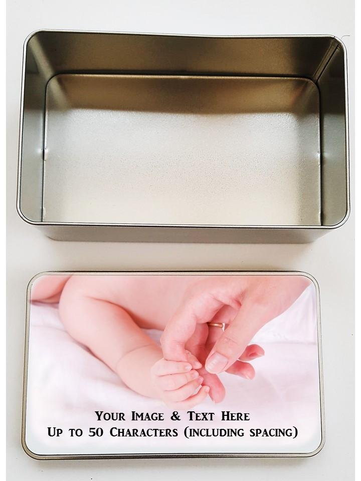 Personalised Keepsake Tin | Own Image/Text. - PureEssenceGreetings