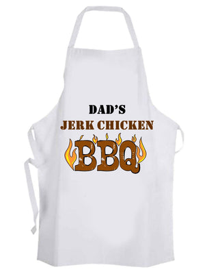 Personalised Jerk Chicken BBQ Apron - PureEssenceGreetings
