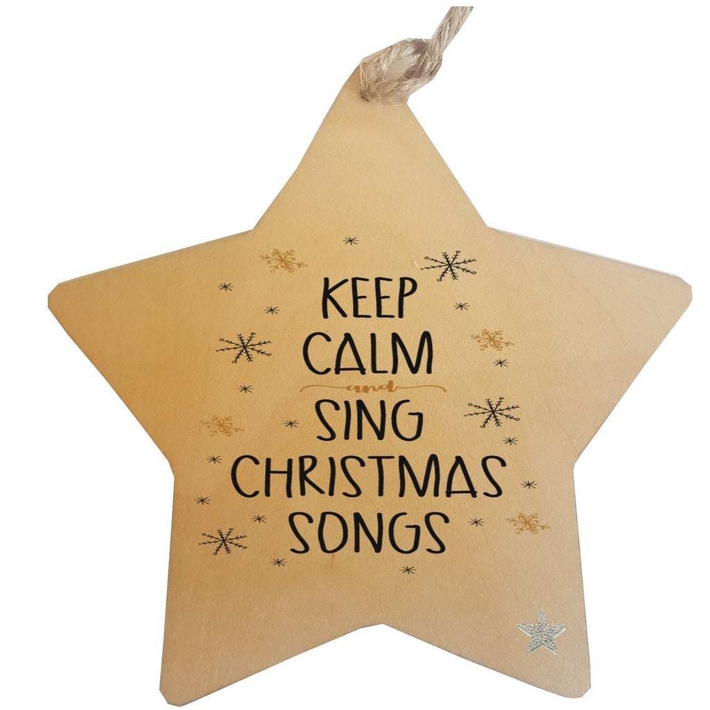 Christmas Tree Wood Decorations - Pack of 4 - PureEssenceGreetings