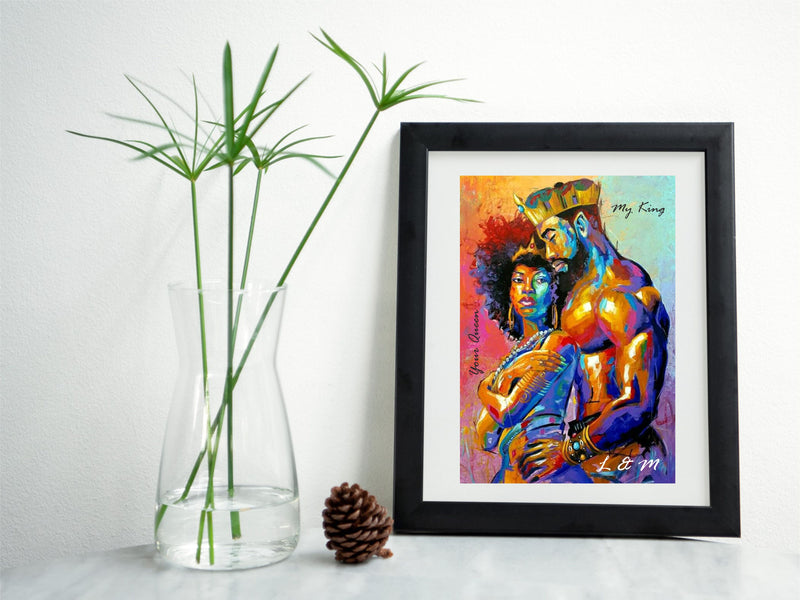 King & Queen Personalised Framed Print