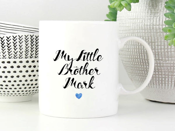 Little Brother Personalised Mug - PureEssenceGreetings