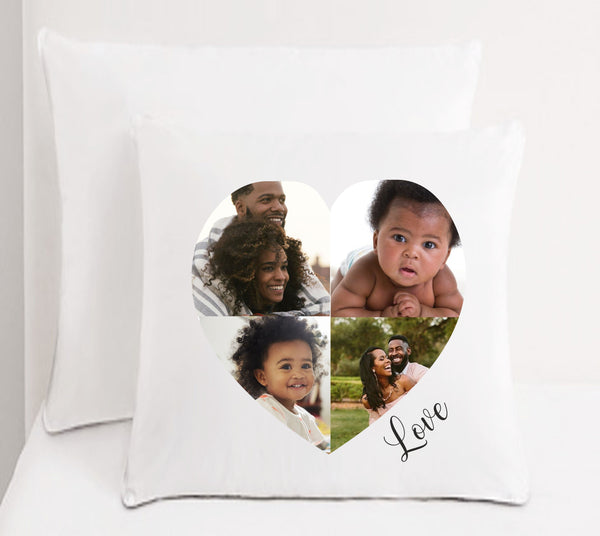 Personalised Faux Silk Photo Collage Cushion