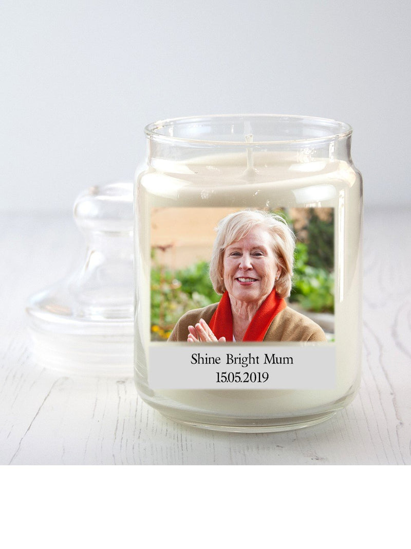 Personalised Memorial Candle Jar - PureEssenceGreetings