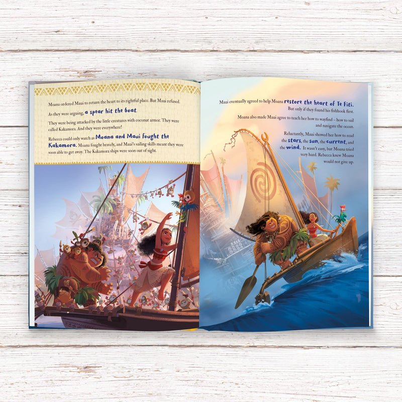 Moana Personalised Book - PureEssenceGreetings