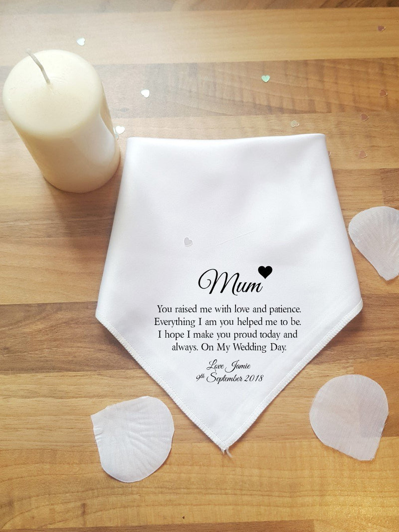 Mother of the Groom Handkerchief - PureEssenceGreetings