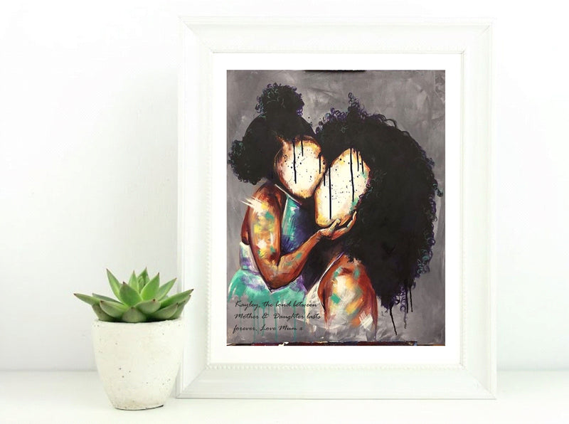 Mother & Daughter Personalised Framed Print