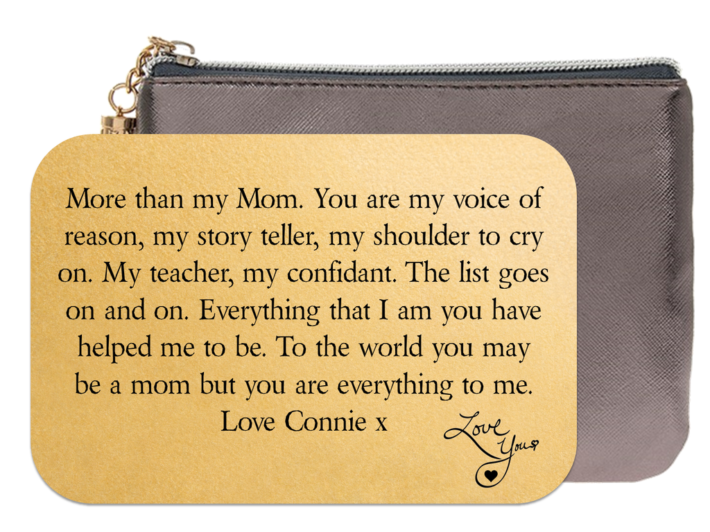 Personalised Mother Keepsake Wallet Card - More Than - PureEssenceGreetings