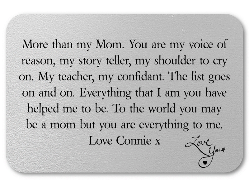 Personalised Mother Keepsake Wallet Card | More Than - PureEssenceGreetings