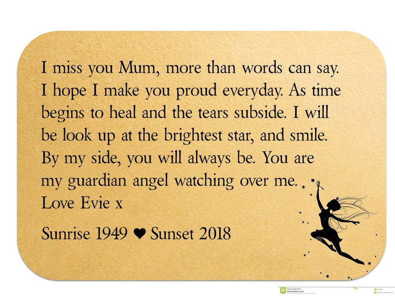 Mum Remembrance Personalised Wallet Card | Guardian Angel - PureEssenceGreetings