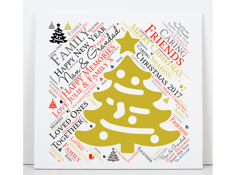 Nan and Grandad Personalised Christmas Card - PureEssenceGreetings