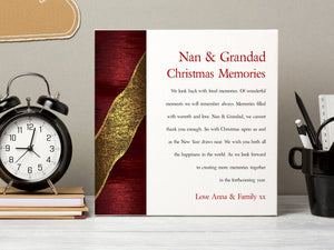 Nan & Grandad Personalised Christmas Poem Card