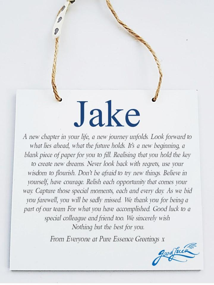 New Job * Retirement Personalised  Plaque - New Beginnings - PureEssenceGreetings