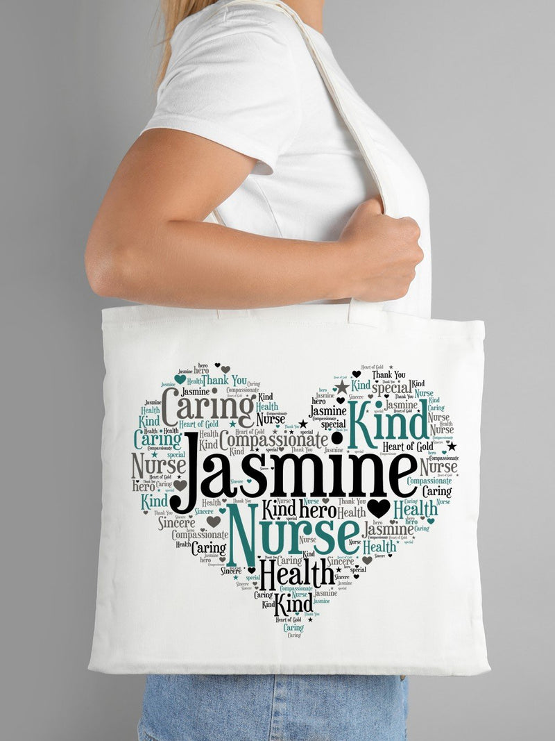 Word Art Tote Bag | Nurse | Doctor | Carer - PureEssenceGreetings