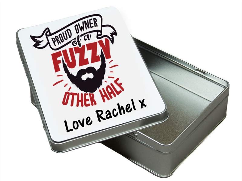 The 'Other Half' Bearded Personalised  Tin