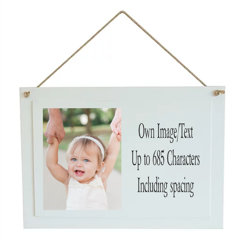 Create Your Wood Photo Plaque -  Own Image & Wording - PureEssenceGreetings