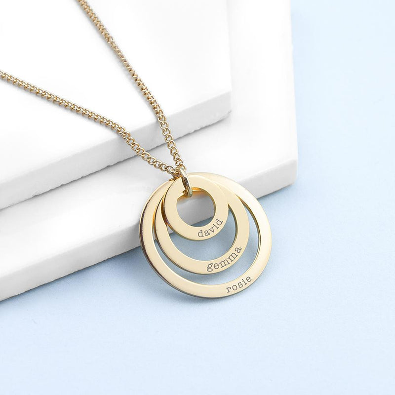 PERSONALISED RINGS OF LOVE NECKLACE - PureEssenceGreetings