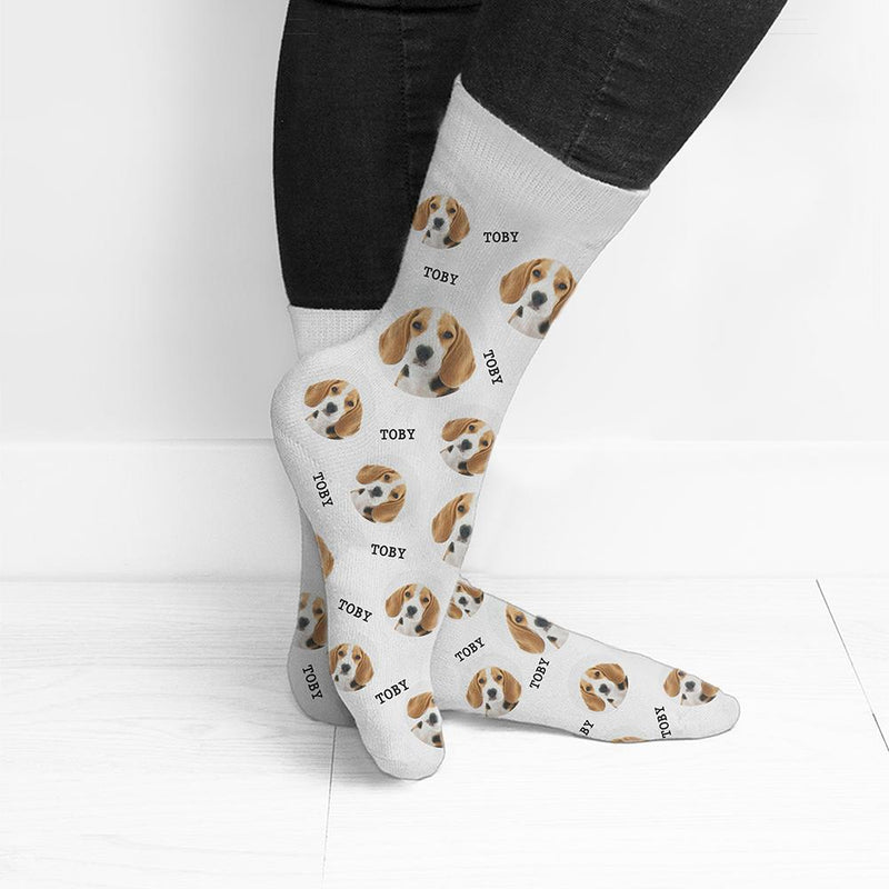 PERSONALISED PET PHOTO SOCKS - PureEssenceGreetings