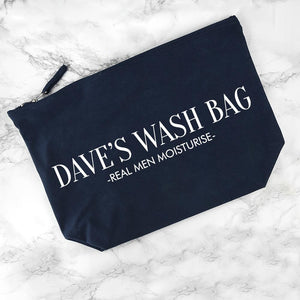 PERSONALISED MEN'S WASH BAG IN NAVY