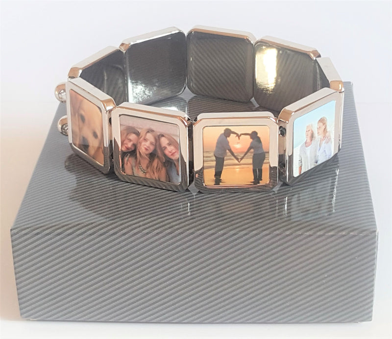 Personalised 9 Piece Photo Bracelet - PureEssenceGreetings