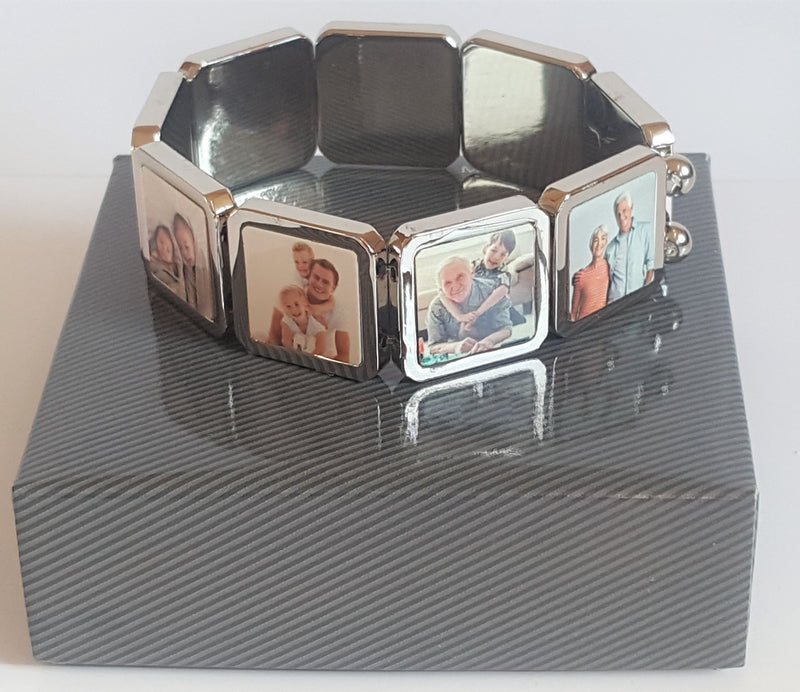 Personalised 9 Piece Photo Bracelet