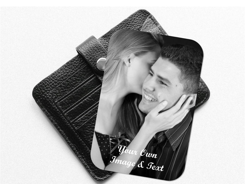 Personalised Photo Wallet Card | Aluminium | Portrait - PureEssenceGreetings