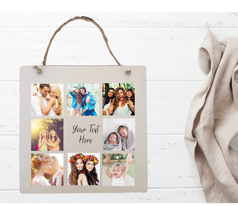 Photo Collage Plaque | Your Own Text