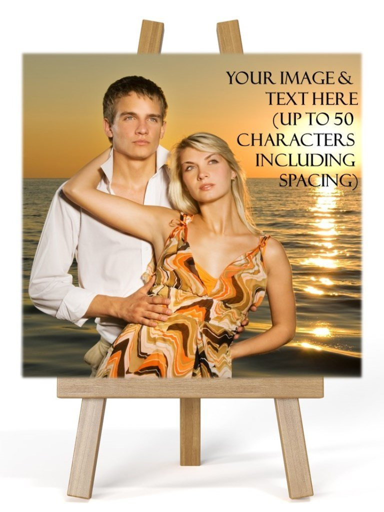 Personalised Photo Easel Plaque
