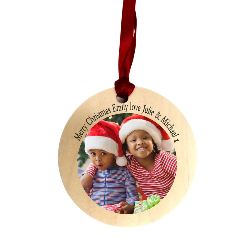 Christmas Tree Personalised Decoration | Your Own Message/Image