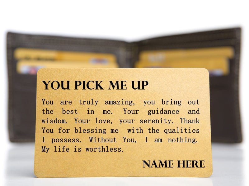 Personalised Prayer Keepsake Mini Card - You Pick Me Up - PureEssenceGreetings