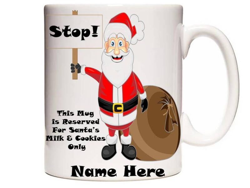 Personalised Children's Christmas Mug - Santa's Milk & Cookies