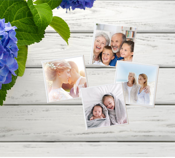 Mini Photo Plaques | Fridge Magnets | 4PK - PureEssenceGreetings