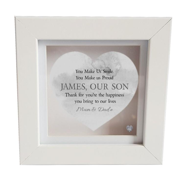 Son Personalised Box Frame