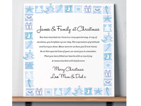 Son Personalised Christmas Poem Card