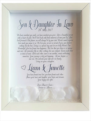 Son and Daughter in Law Framed Wedding Poem - PureEssenceGreetings