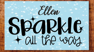 Sparkle Christmas Personalised  Name Plaque