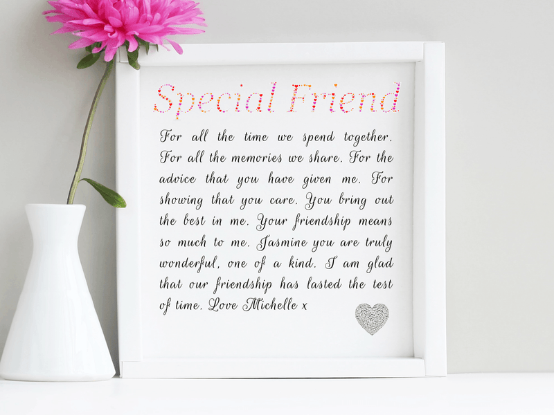 Special Friend Personalised Framed Poem - PureEssenceGreetings