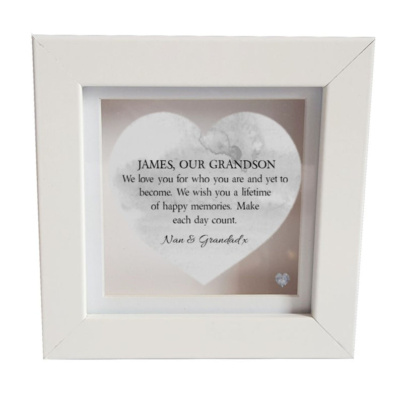 Grandson Personalised Box Frame