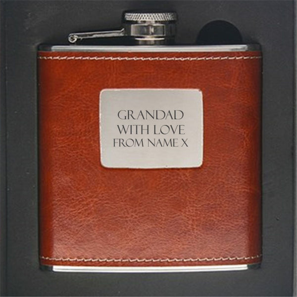 Grandad Personalised Hip Flask