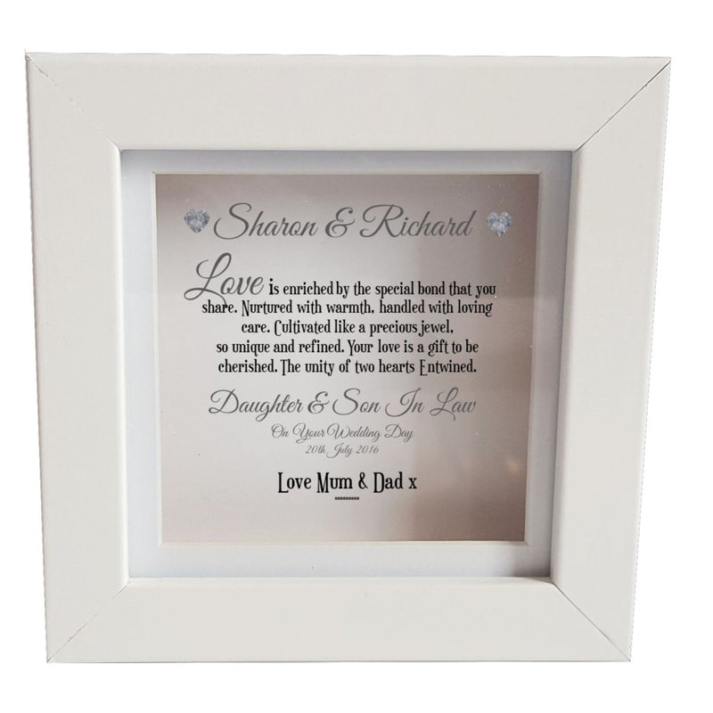 Daughter & Son In Law Personalised Box Frame