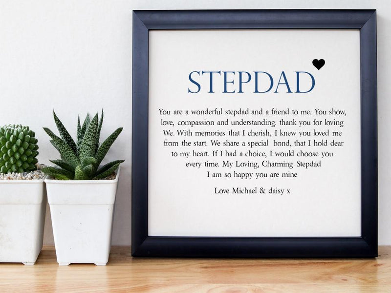 Stepdad Personalised Framed Poem - Special Bond