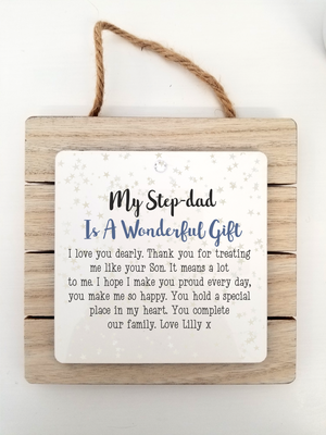 Stepdad Poem Personalised Plaque | Love You Dearly - PureEssenceGreetings